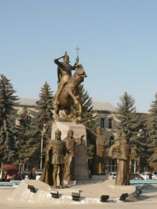 The statue of Vardan Mamikonyan and his generals