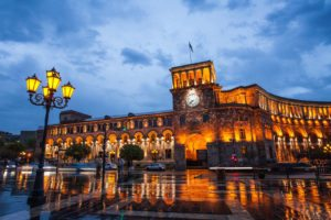 The Republic Square of Yerevan