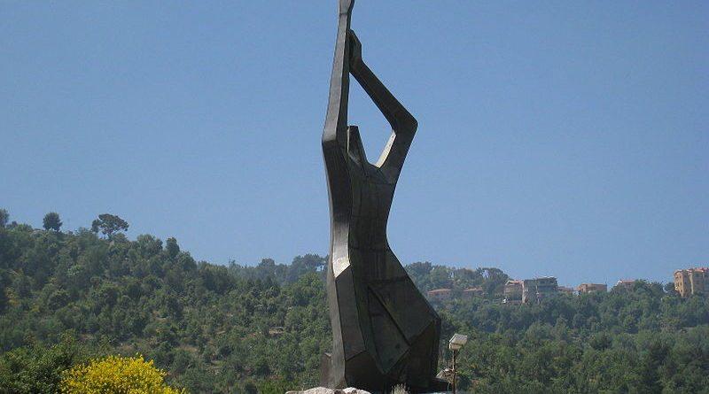 Armenian Genocide memorial in Bikfaya, Lebanon - 1965