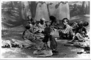 Children during Armenian genocide