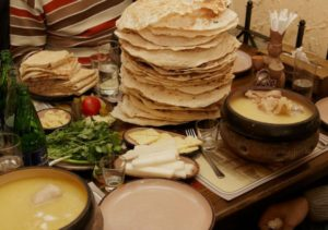 Armenian Khash and Lavash