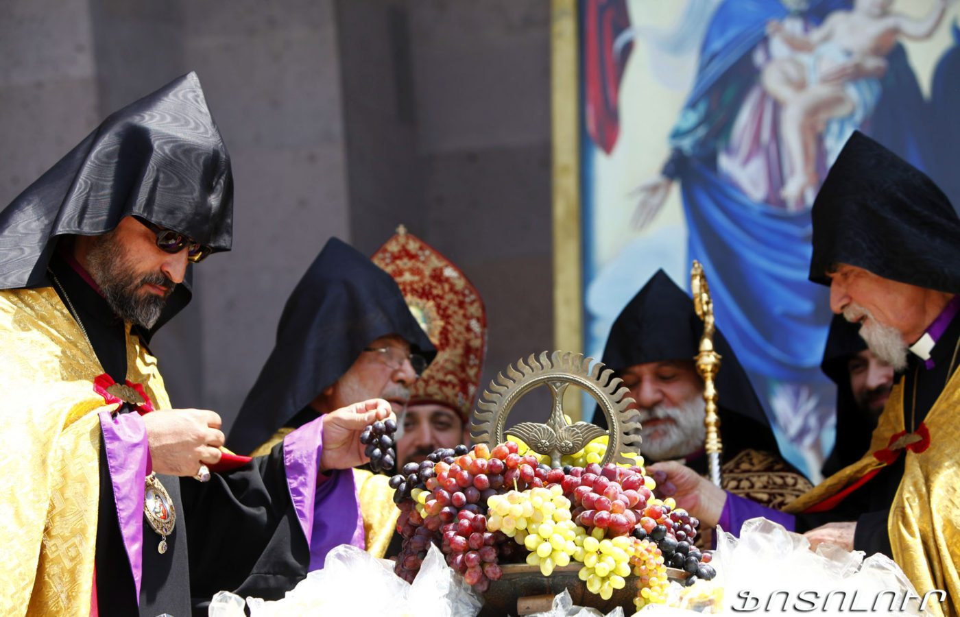 Grape blessing ceremony at the Echmiadzin Cathedral