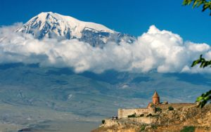 Mountain Ararat and Khor Virap