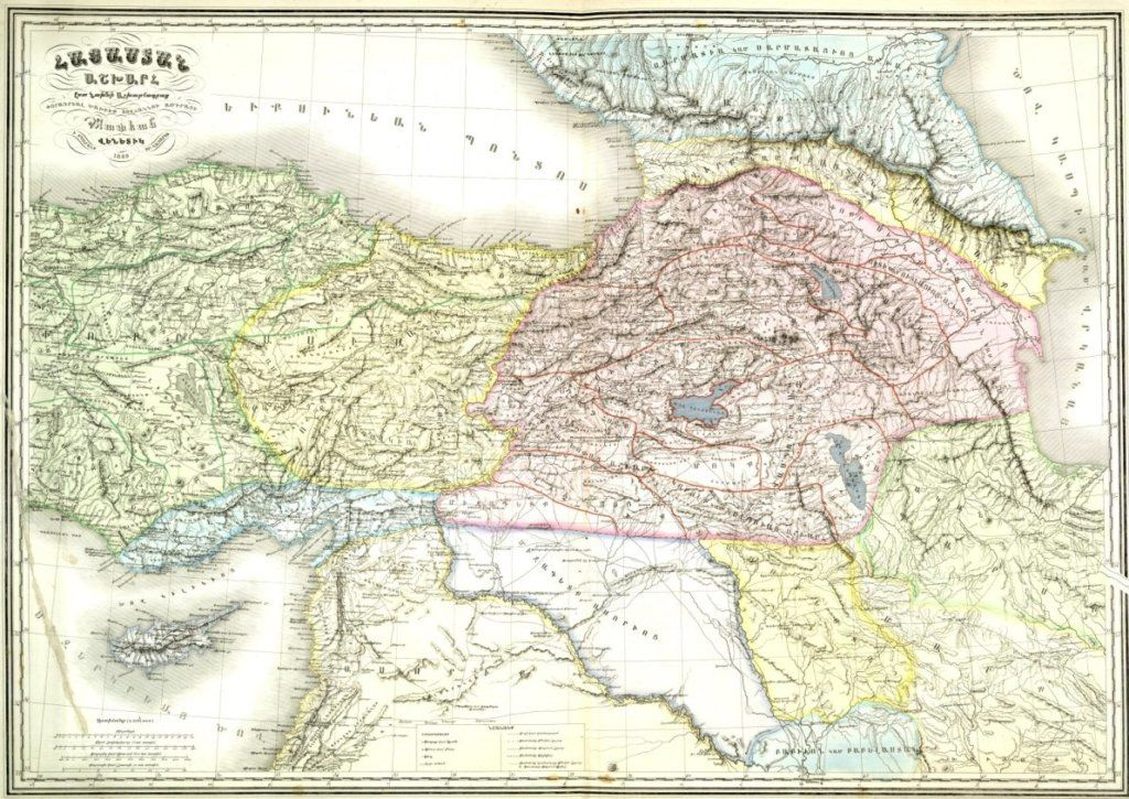 1849 Map of historic Armenia from Venice Atlas.