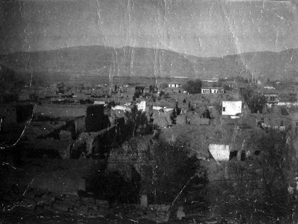 A view of the destroyed Armenian district of Yerznka