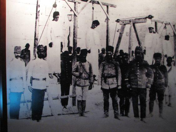 April 24, 1915 Armenian intellectuals and leaders were killed by the barbarian Turks