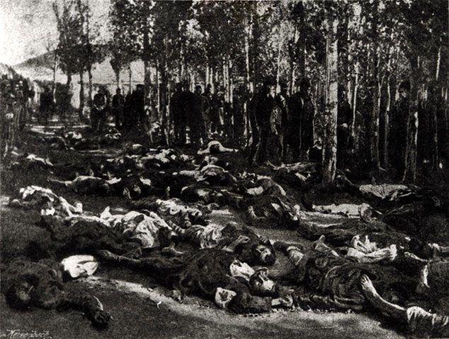 Armenian bodies in Erzerum in 1895