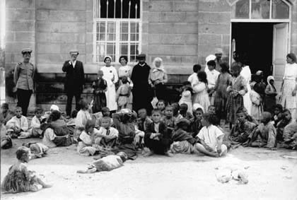 Armenian orphans in Vagharshapat (Echmiadzin), Summer 1915