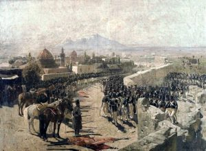 Franz Roubaud's painting of the Erivan Fortress siege in 1827 by the Russian forces under leadership of Ivan Paskevich during the Russo-Persian War (1826–28)