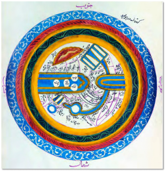 From al-lstakari's Kitab al-masalik wa-al-mamalik, dated 1836, British Library, London