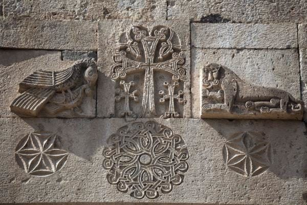 Geghard Monastery - art on walls