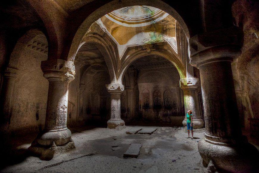 Interior of Geghard Monastery