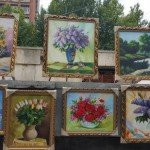 Nature Paintings at Vernissage Market