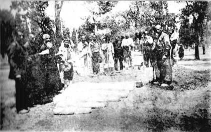 The burial of the Western Armenian refugee family, Erivan province, Summer 1915