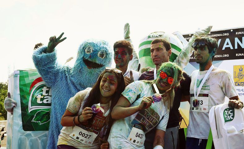 The Winners of Yerevan Color Run 2017