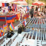 Armenian flags, Vernissage