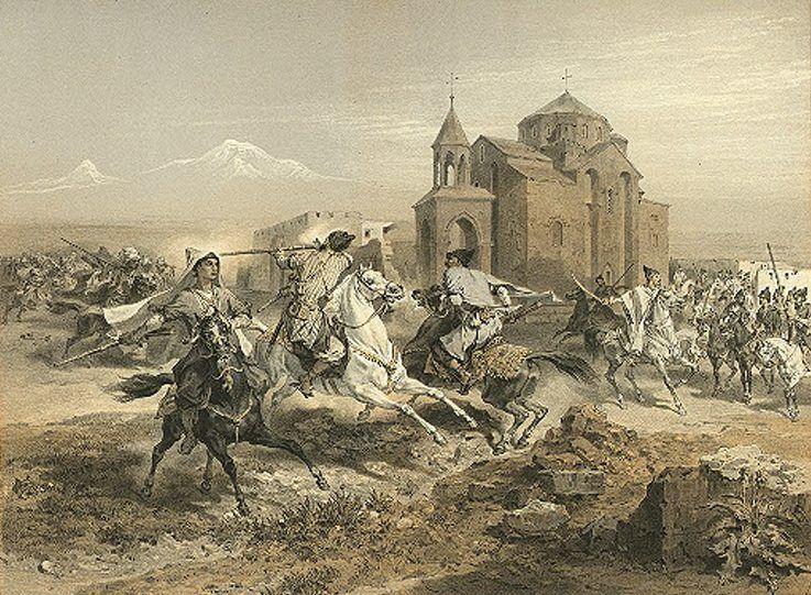 kurd and persians attacking Vagharshapat