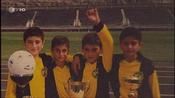 Henrikh Mkhitaryan, second from left