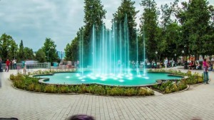 Green park in Stepanakert