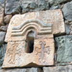 A fragment of Holy Stepanos Church in Togh, Hadrut from the 13th century