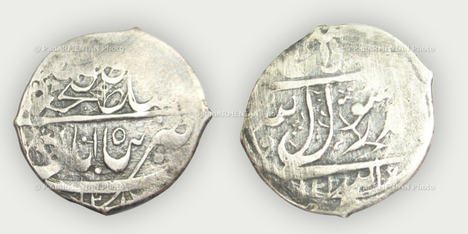 Persian Empire, Fat'h Ali Shah, (1797-1834) silver Abbasid minted in 1797 in Panahabad (Shushi). Weight 4.36g, diameter 22.36mm.