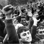 Protesters demand Karabakh reunification with Armenia in 1988