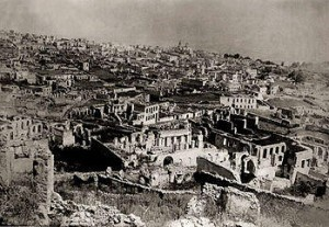 the ruins of Shushi after the 1920 massacre