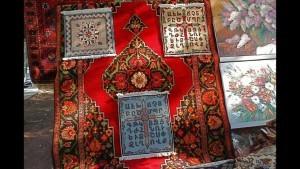 Armenian carpet depicting the Armenian Alphabet