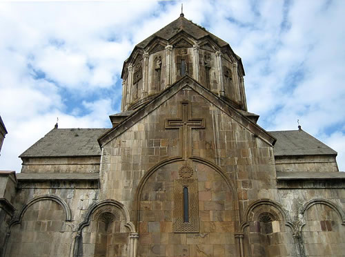 The southern facade of the Cathedral of St. John the Baptist.